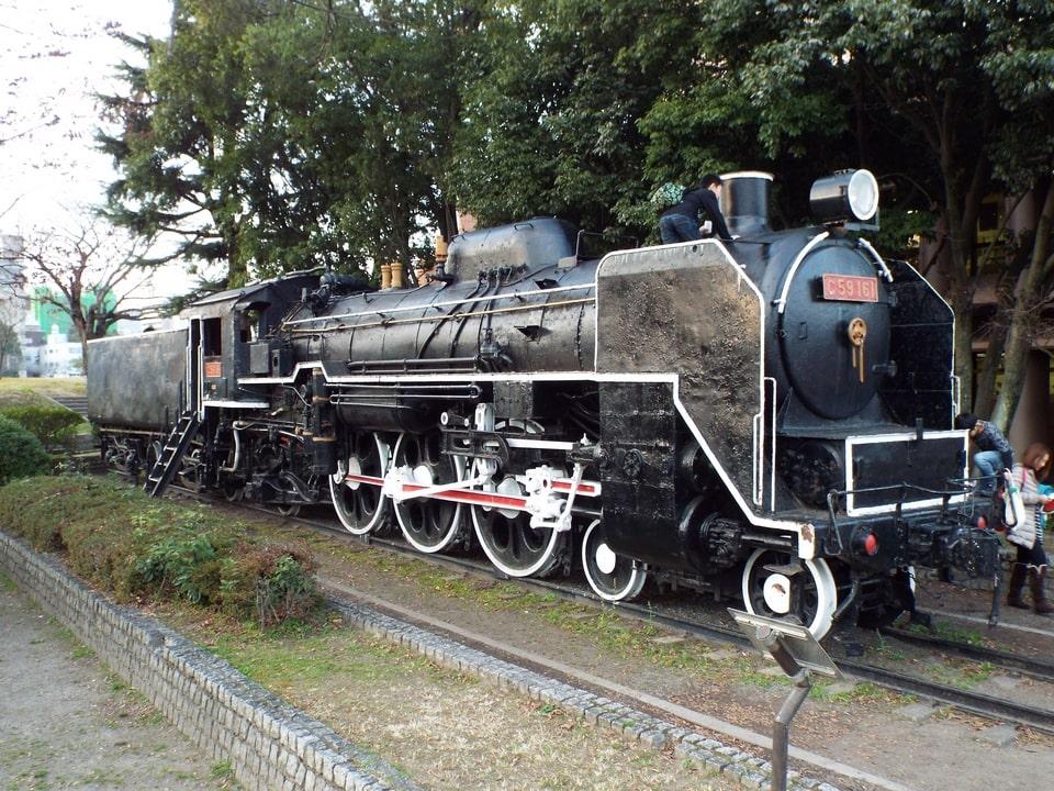 Hiroshima – Locomotive à vapeur C59161 et le Jardin Yuhua