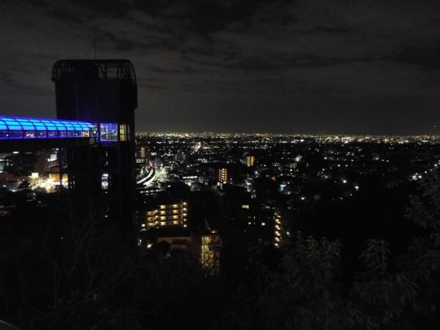 Vue nocture sur Osaka de Minoh